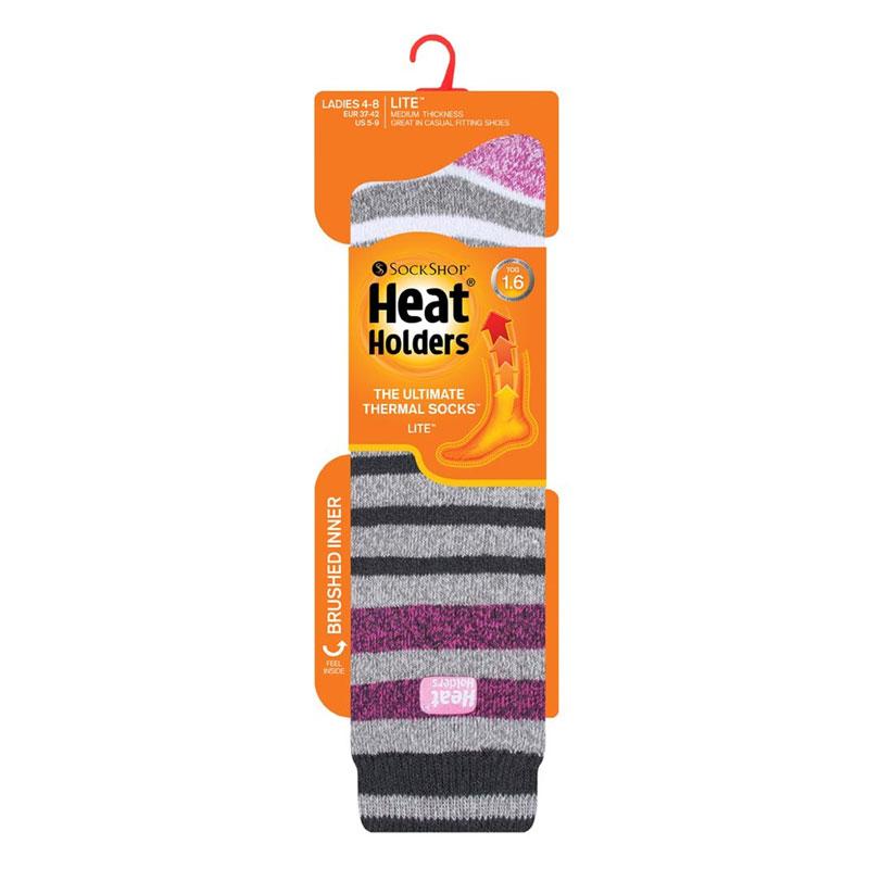 Κάλτσες Γυναικείες Θερμικές Jacquard Long LITE™ Ριγέ Heat Holders ... 0aeebd2c3ac